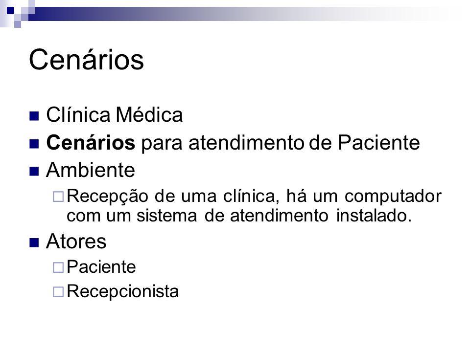 Cenários Clínica Médica Cenários para atendimento de Paciente Ambiente