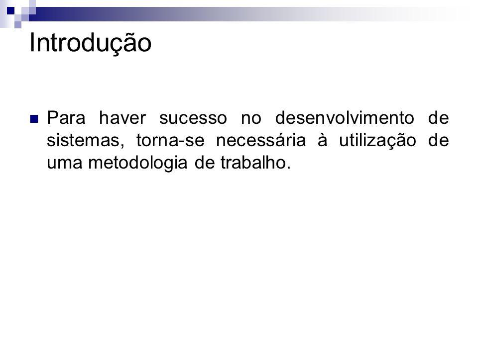 IntroduçãoPara haver sucesso no desenvolvimento de sistemas, torna-se necessária à utilização de uma metodologia de trabalho.