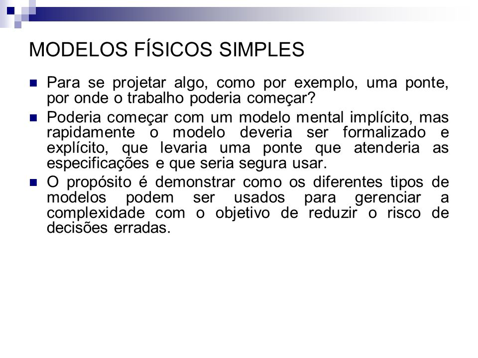 MODELOS FÍSICOS SIMPLES