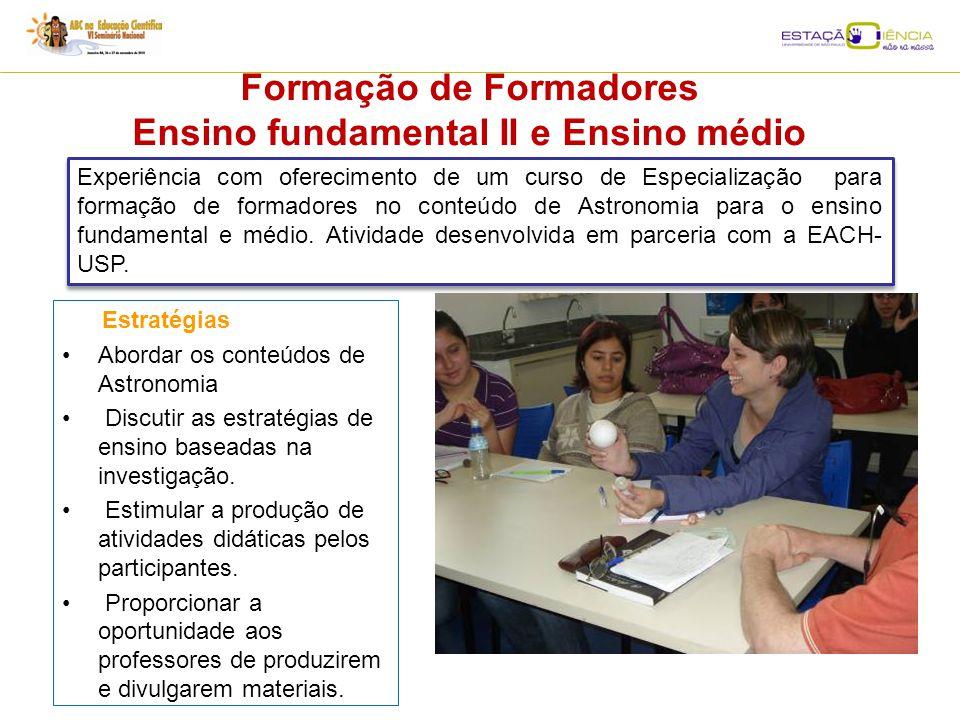Formação de Formadores Ensino fundamental II e Ensino médio