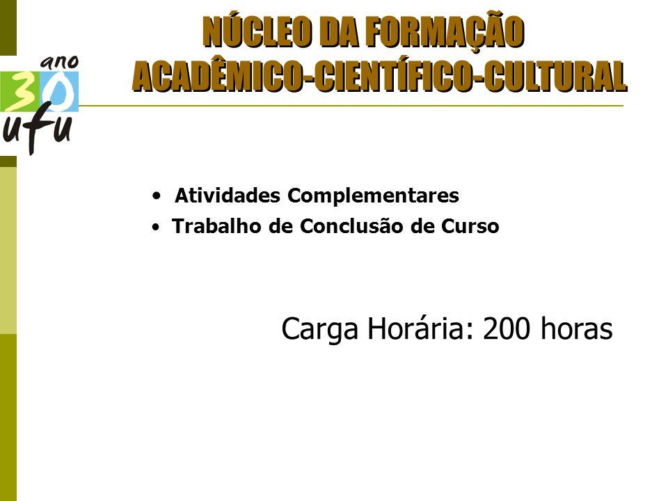 NÚCLEO DA FORMAÇÃO ACADÊMICO-CIENTÍFICO-CULTURAL