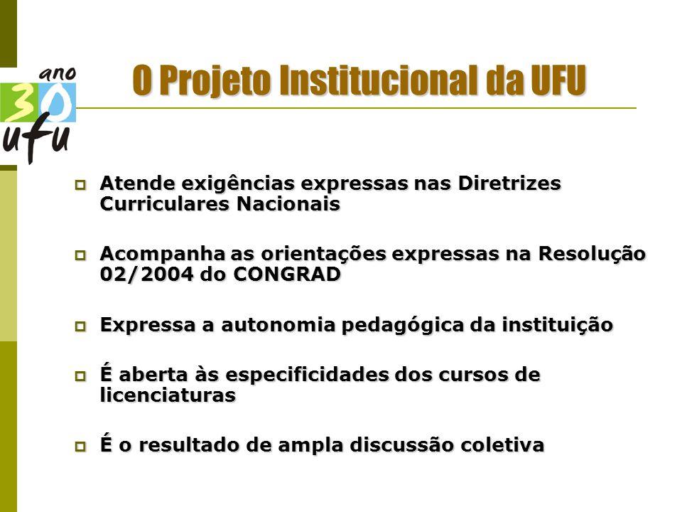 O Projeto Institucional da UFU