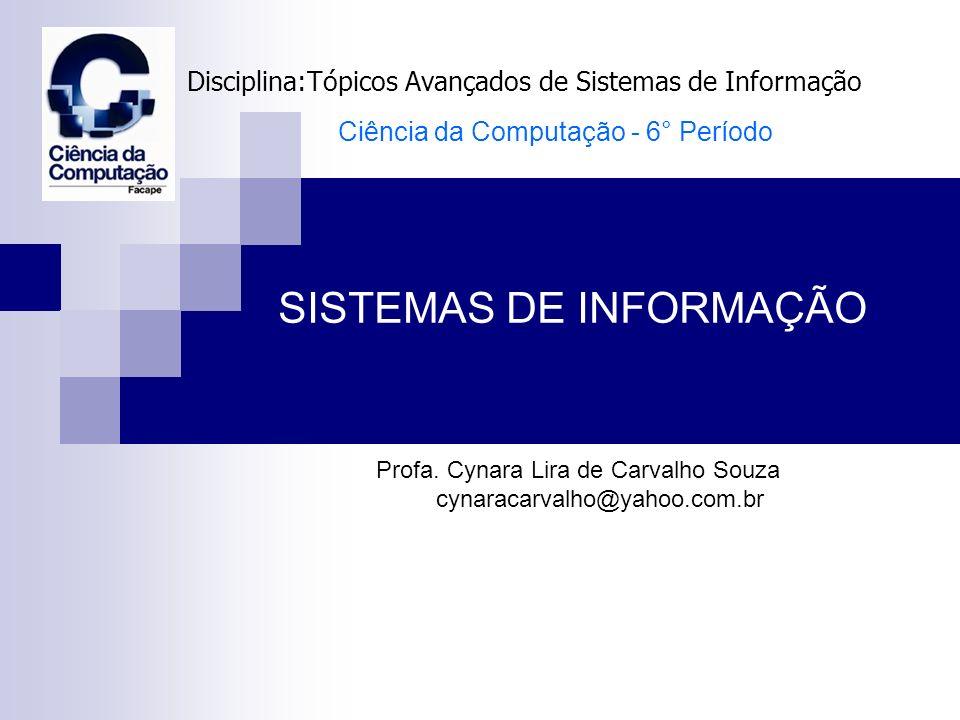 Disciplina:Tópicos Avançados de Sistemas de Informação