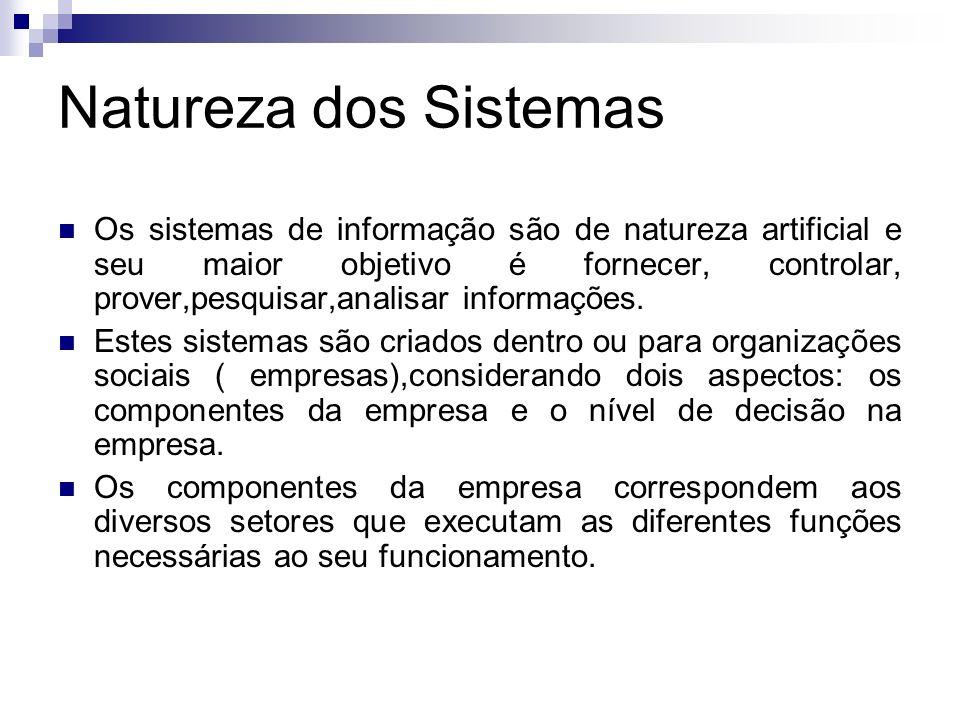Natureza dos Sistemas
