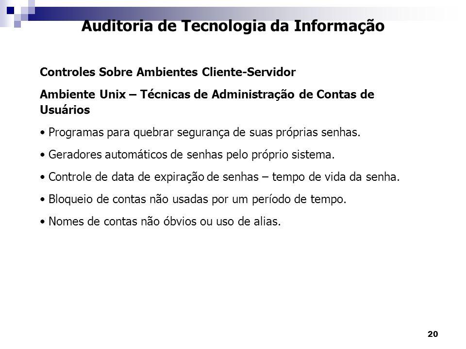 Auditoria de Tecnologia da Informação
