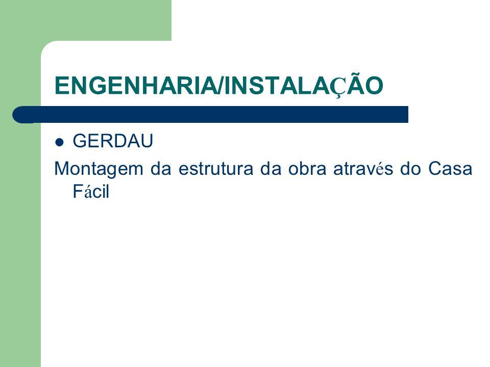 ENGENHARIA/INSTALAÇÃO