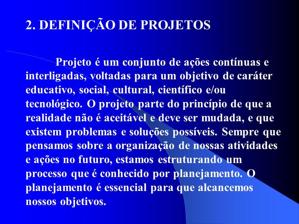 2. DEFINIÇÃO DE PROJETOS