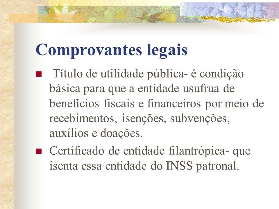 Comprovantes legais