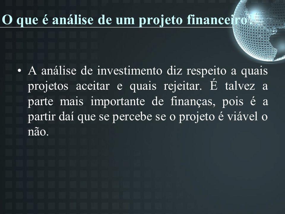 O que é análise de um projeto financeiro