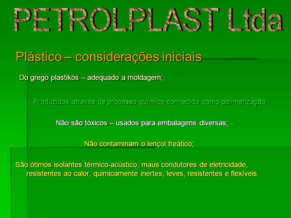 PETROLPLAST Ltda Plástico – considerações iniciais