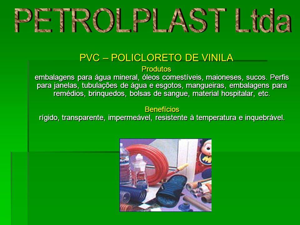 PVC – POLICLORETO DE VINILA