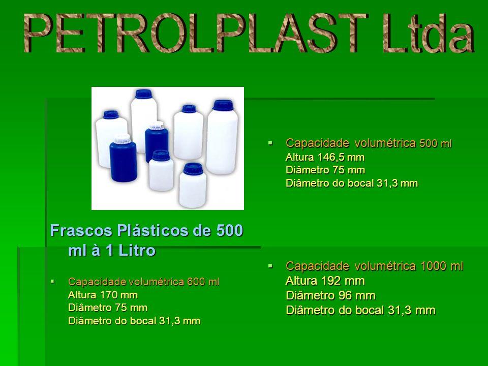 PETROLPLAST Ltda Frascos Plásticos de 500 ml à 1 Litro