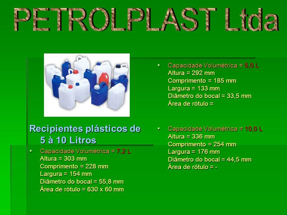 PETROLPLAST Ltda Recipientes plásticos de 5 à 10 Litros