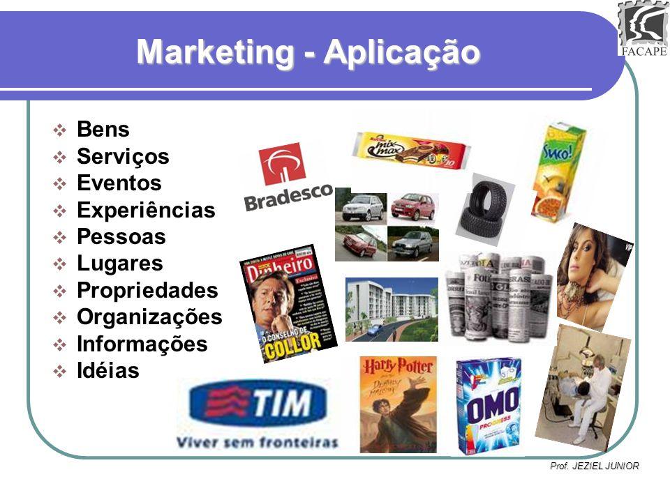 Marketing - Aplicação Bens Serviços Eventos Experiências Pessoas