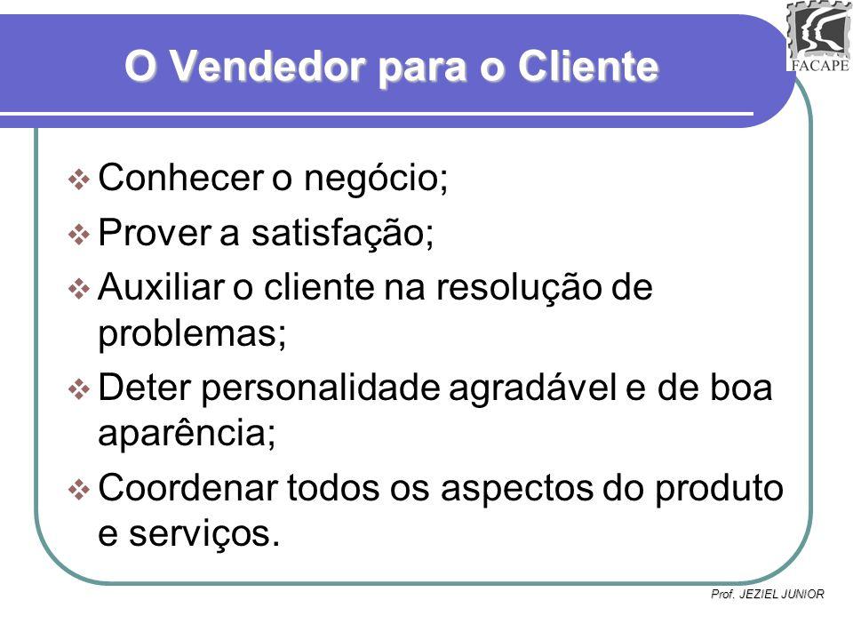 O Vendedor para o Cliente