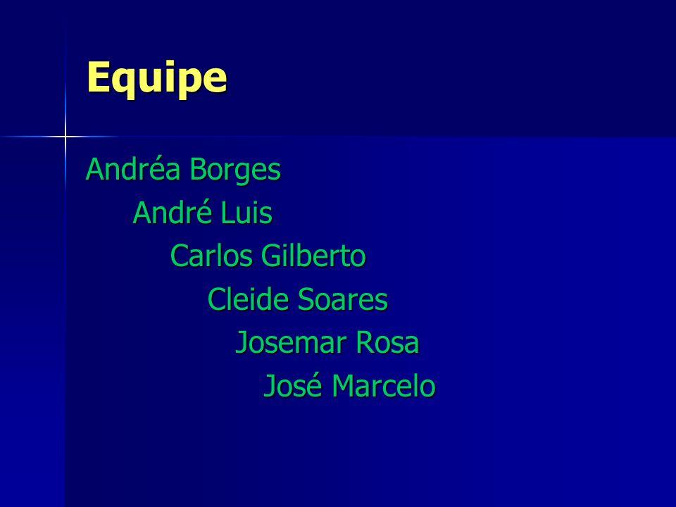 Equipe Andréa Borges André Luis Carlos Gilberto Cleide Soares