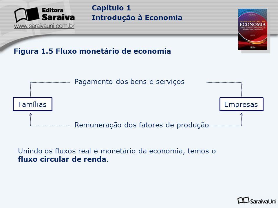 Figura 1.5 Fluxo monetário de economia