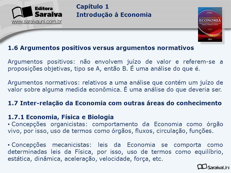 1.6 Argumentos positivos versus argumentos normativos