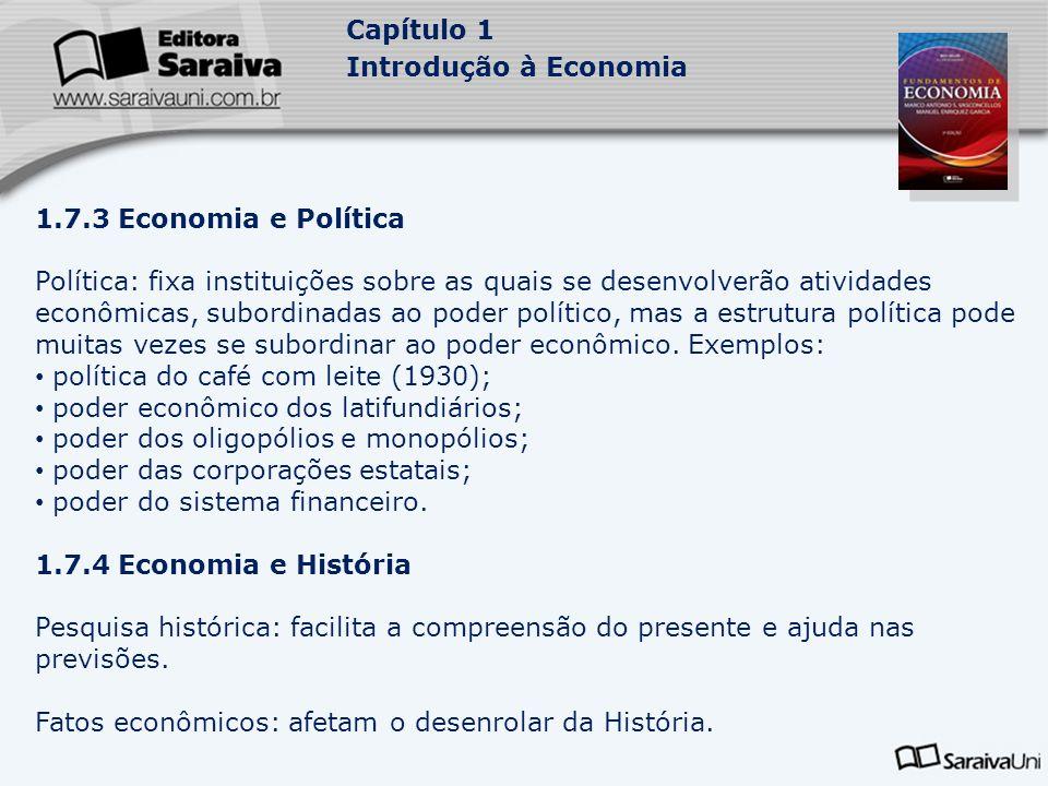 1.7.3 Economia e Política