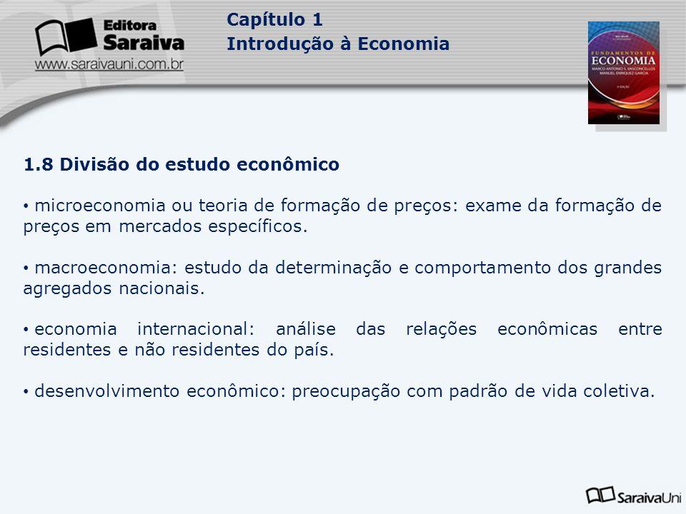 1.8 Divisão do estudo econômico