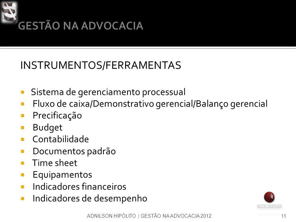 INSTRUMENTOS/FERRAMENTAS