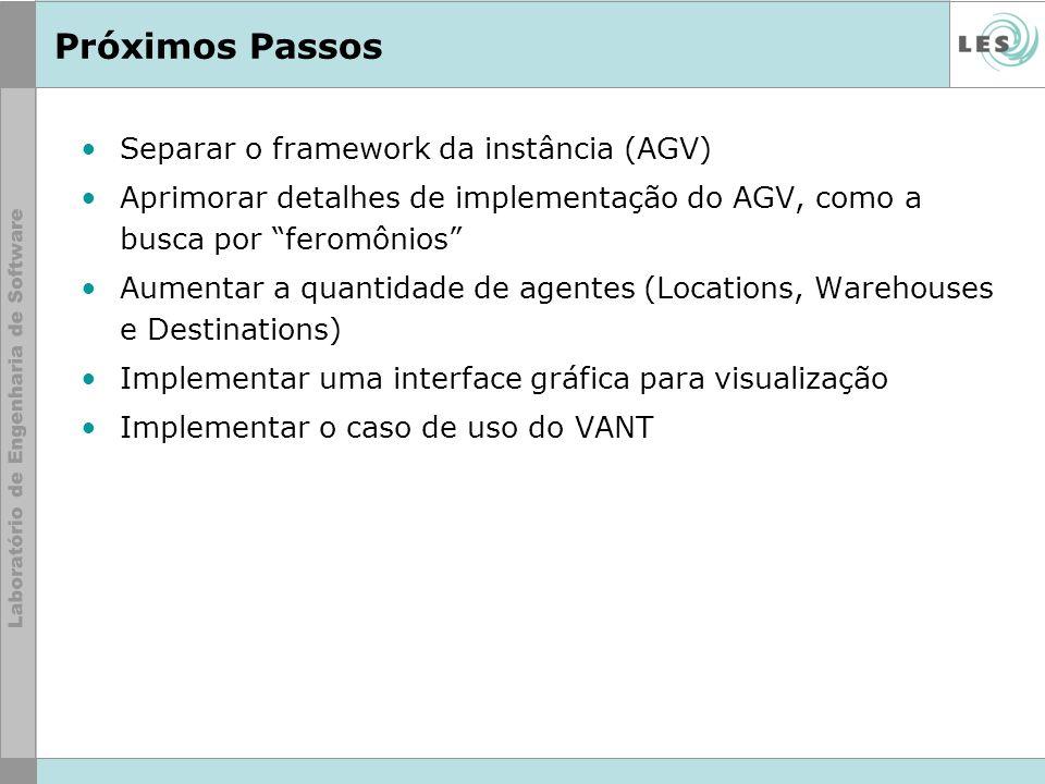 Próximos Passos Separar o framework da instância (AGV)