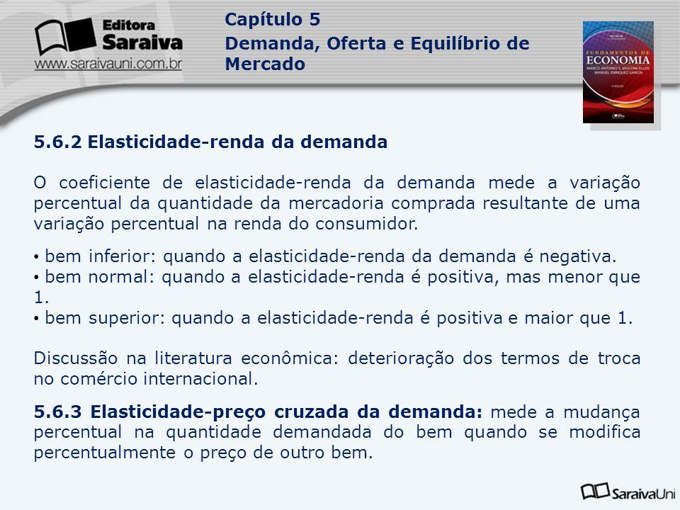 5.6.2 Elasticidade-renda da demanda