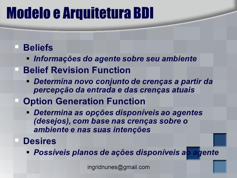 Modelo e Arquitetura BDI