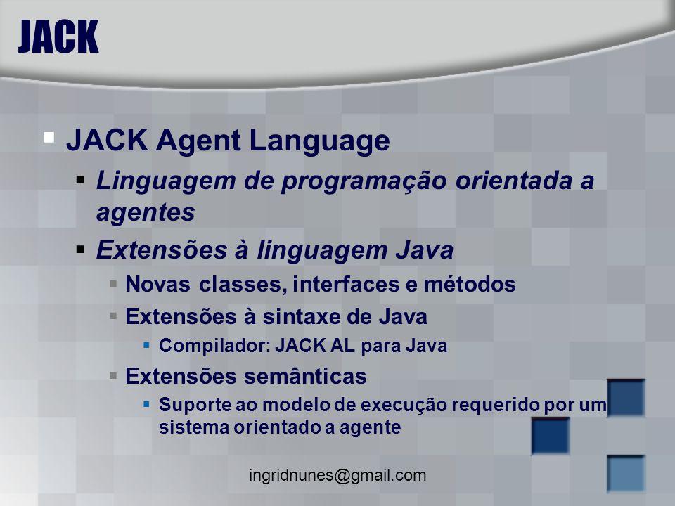 JACK JACK Agent Language Linguagem de programação orientada a agentes