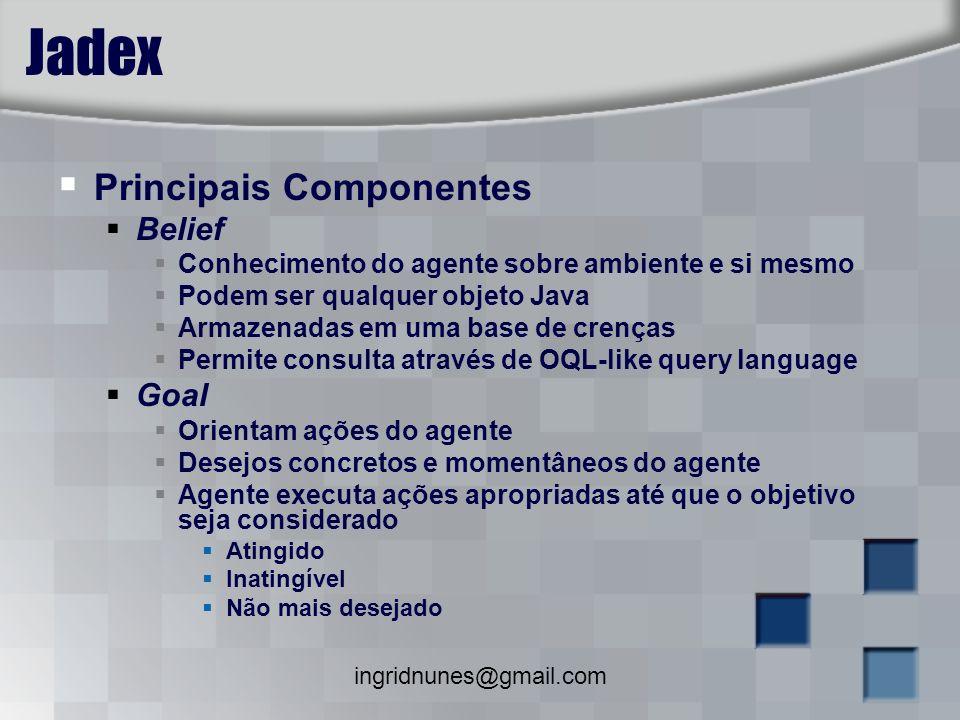 Jadex Principais Componentes Belief Goal