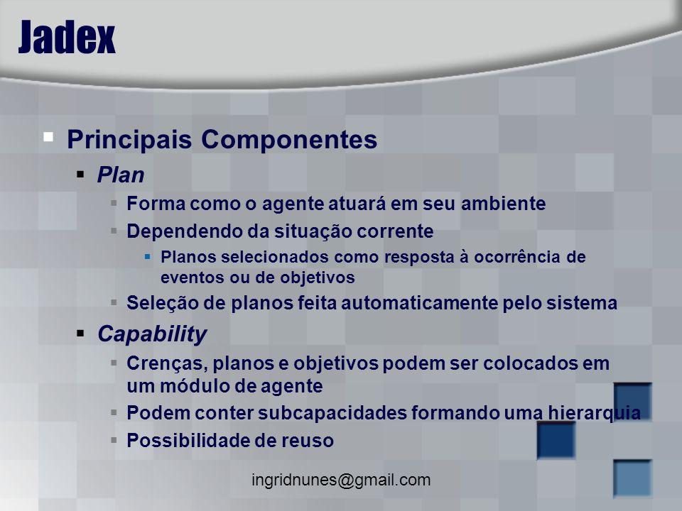 Jadex Principais Componentes Plan Capability