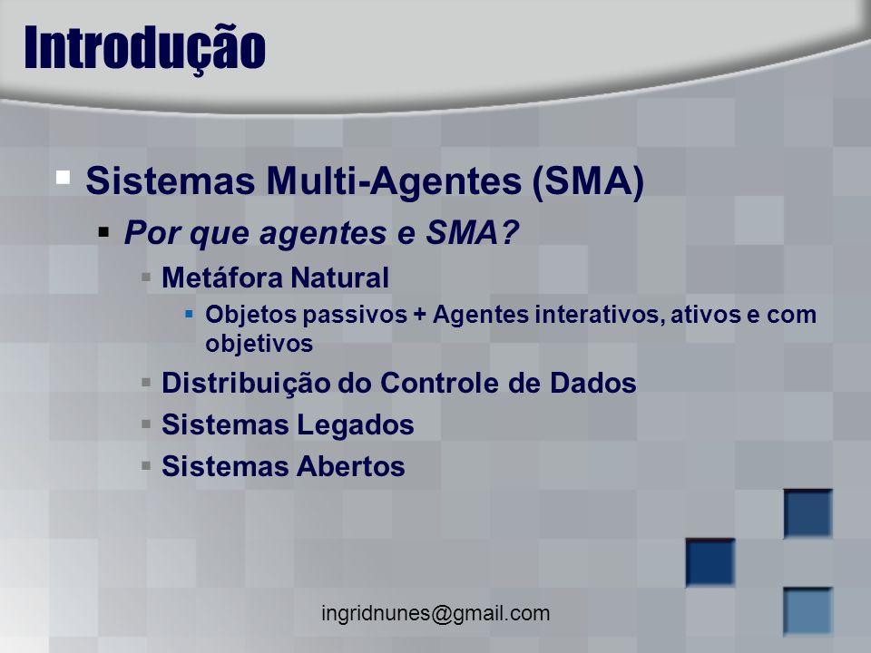 Introdução Sistemas Multi-Agentes (SMA) Por que agentes e SMA