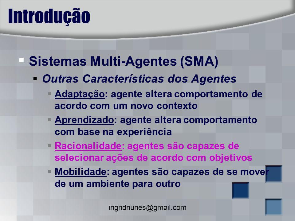 Introdução Sistemas Multi-Agentes (SMA)