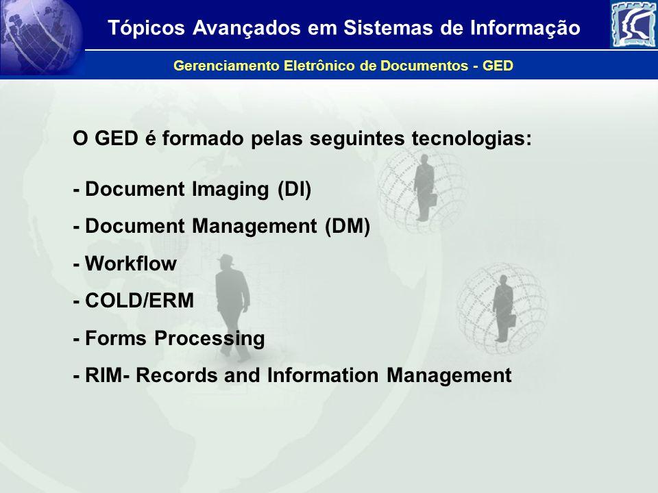 O GED é formado pelas seguintes tecnologias: