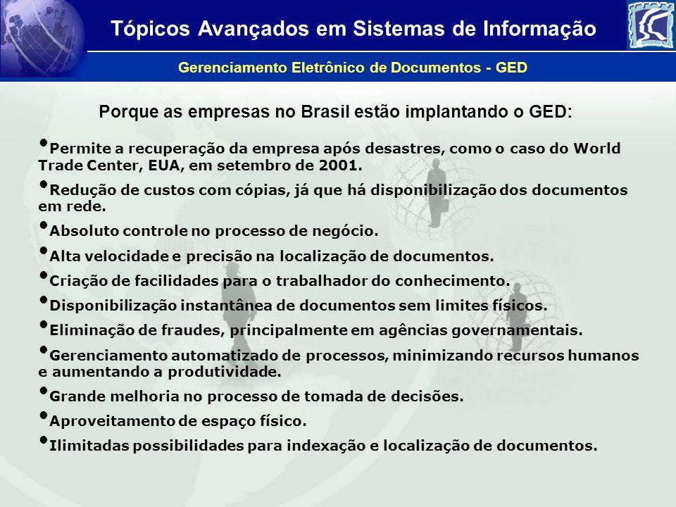 Porque as empresas no Brasil estão implantando o GED: