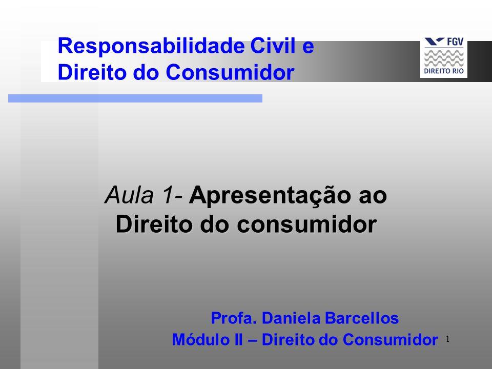 Aula 1- Apresentação ao Direito do consumidor