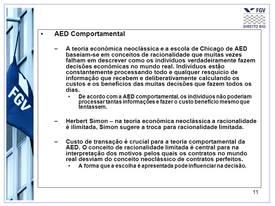AED Comportamental