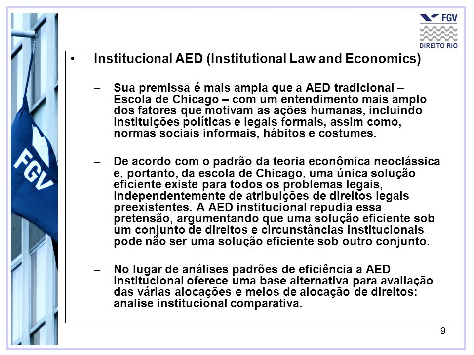 Institucional AED (Institutional Law and Economics)