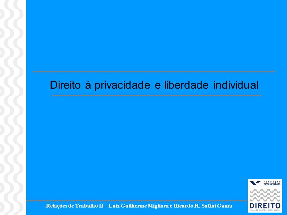 Direito à privacidade e liberdade individual