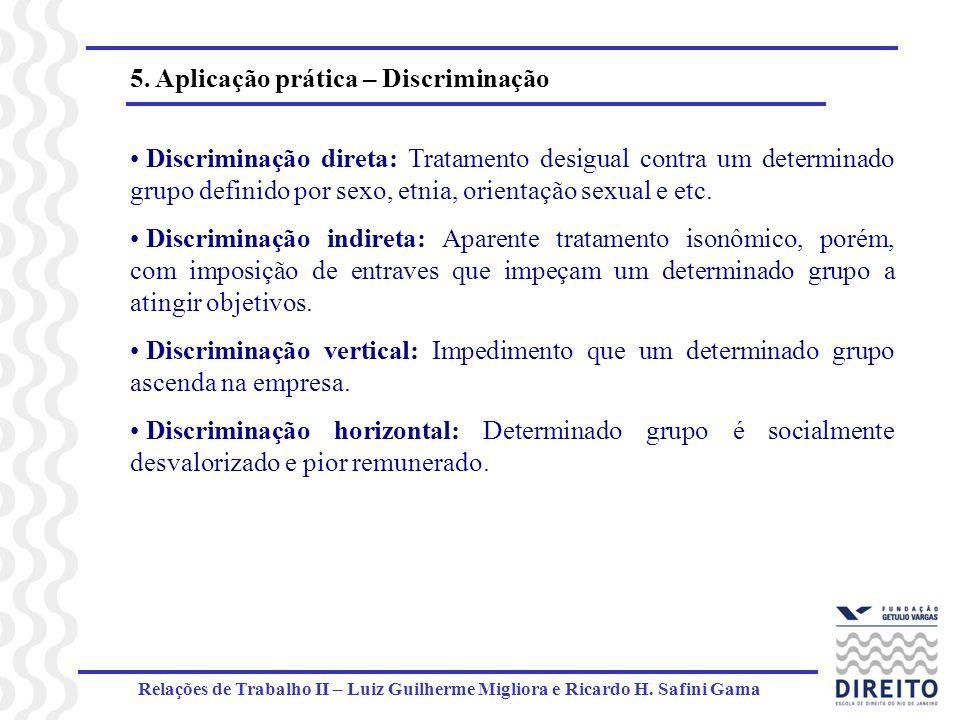 5. Aplicação prática – Discriminação