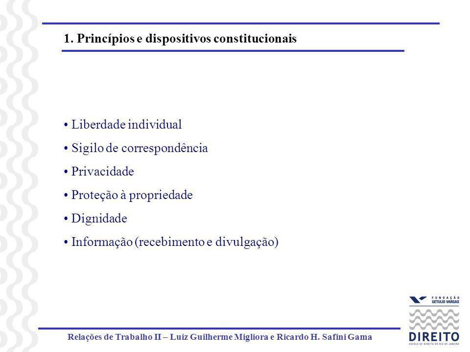 1. Princípios e dispositivos constitucionais