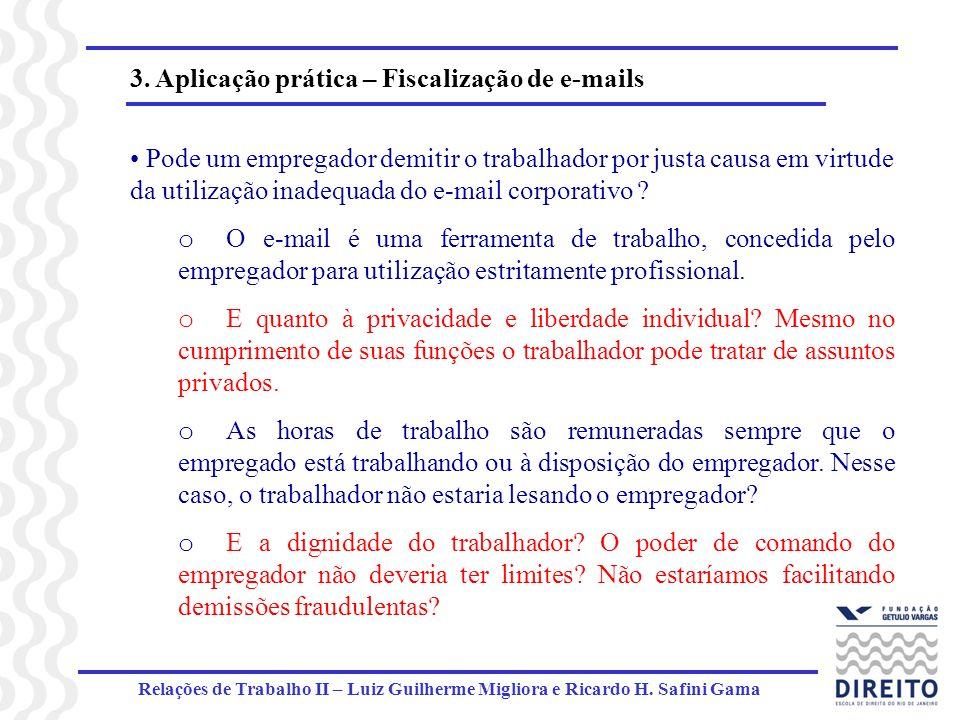 3. Aplicação prática – Fiscalização de e-mails
