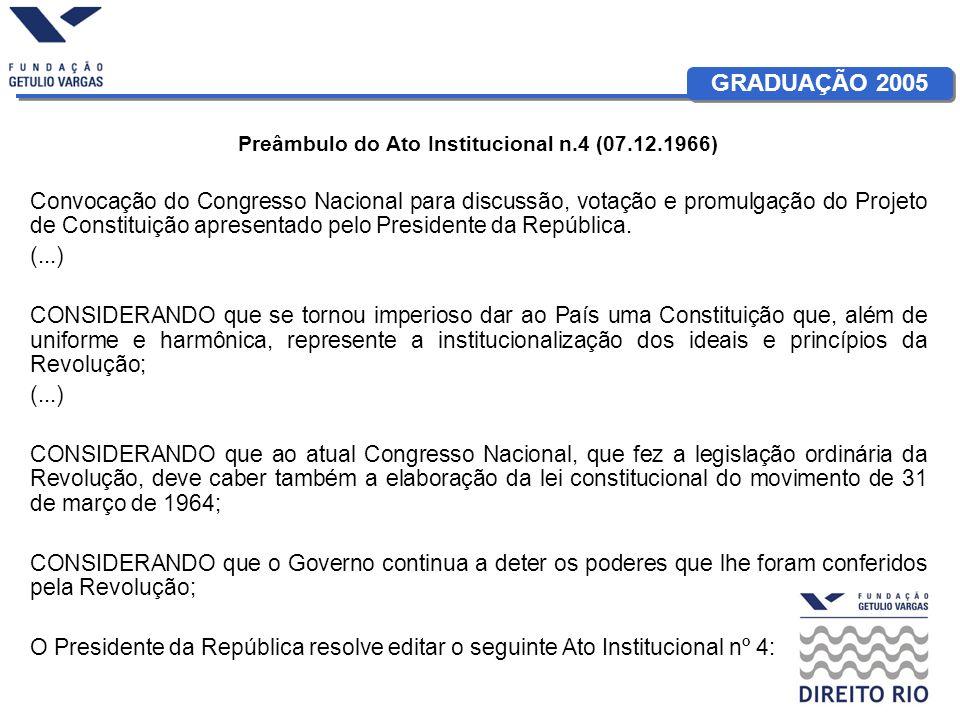 Preâmbulo do Ato Institucional n.4 (07.12.1966)