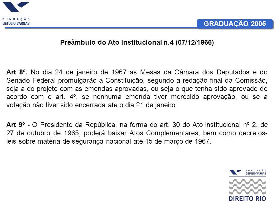 Preâmbulo do Ato Institucional n.4 (07/12/1966)