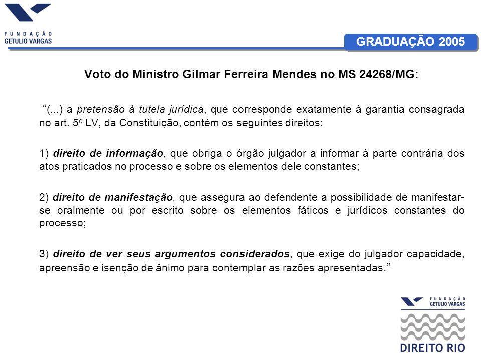 Voto do Ministro Gilmar Ferreira Mendes no MS 24268/MG: