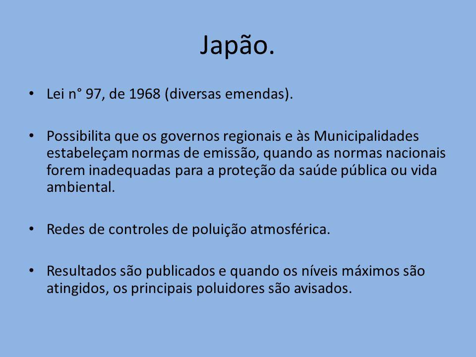 Japão. Lei n° 97, de 1968 (diversas emendas).
