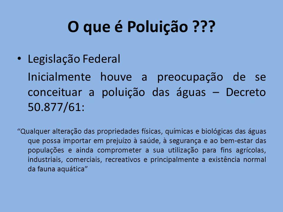 O que é Poluição Legislação Federal