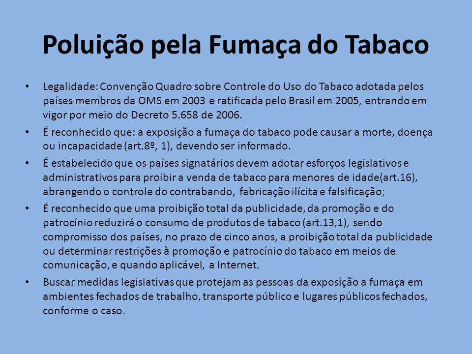Poluição pela Fumaça do Tabaco