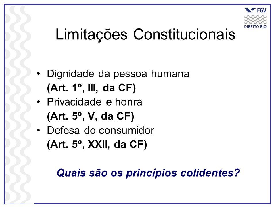 Limitações Constitucionais