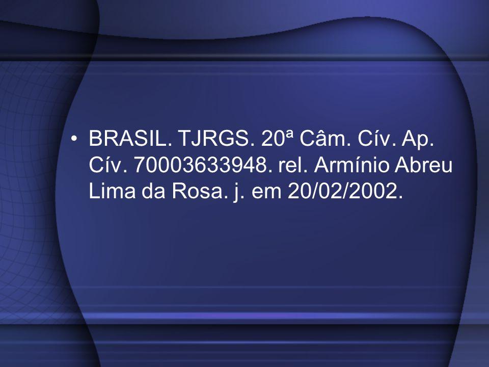 BRASIL. TJRGS. 20ª Câm. Cív. Ap. Cív. 70003633948. rel
